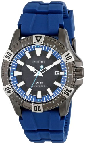 Seiko Men's SNE283 Gunmetal-Tone Stainless Steel...