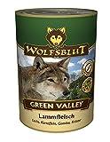 Warnicks - Servizio di mangime per animali Wolfsblut, barattolo Green Valley, con 41% di carne di agnello e 25% salmone, 6 x 395 g