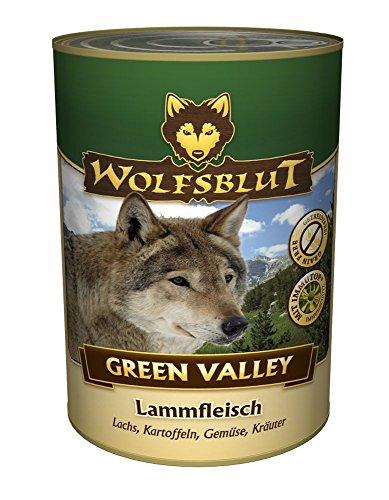 Warnicks Tierfutterservice Wolfsblut Dose Green Valley mit 41% Lammfleisch und 25% Lachs 6 x 395 g