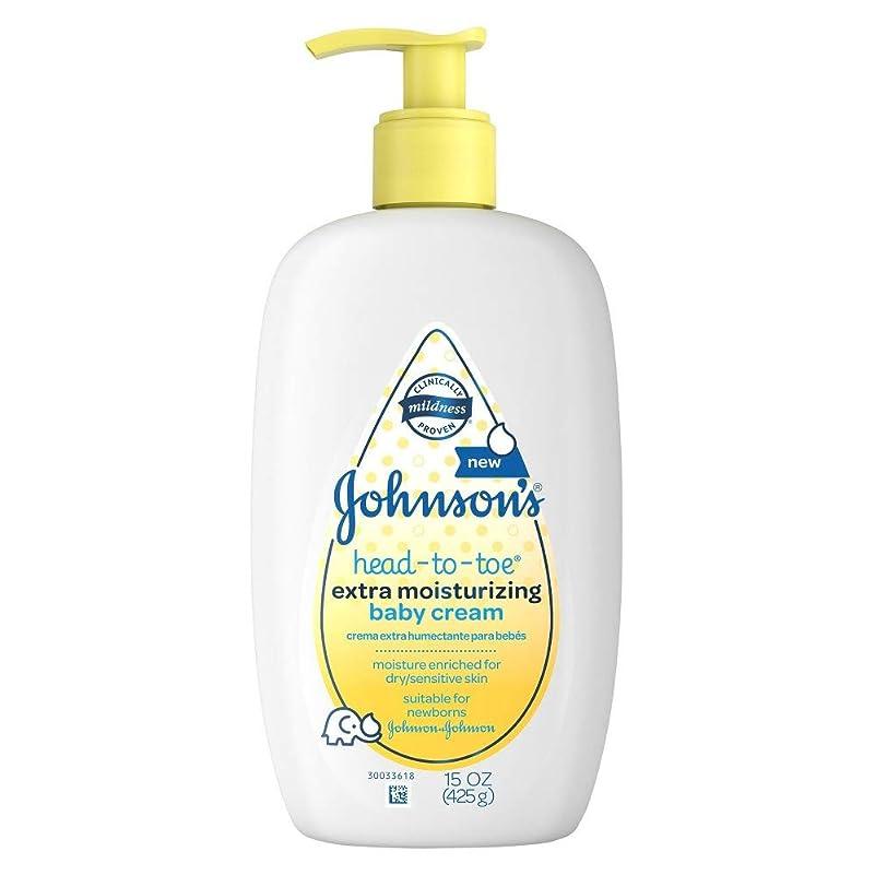 購入糞拒否Johnson's 頭からつま先までエクストラモイスチャライジングクリームベビー - 15オンス、2のパック