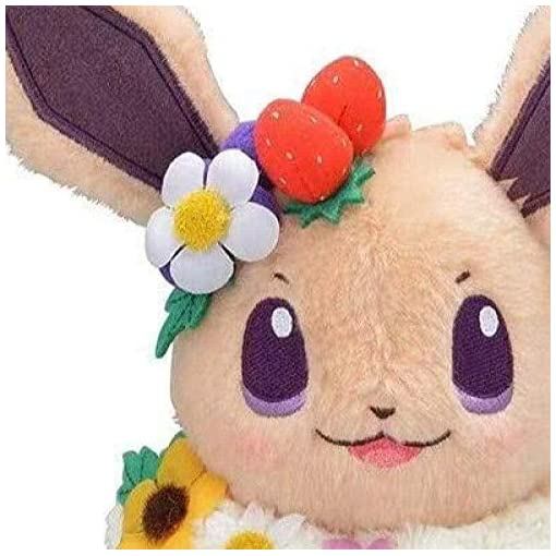 N/D Plush Toy 18Cm Anime Game Easter Eevee Plush Stuffed Toy Doll Birthday Gift for Children
