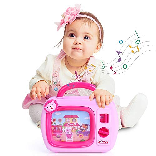 BAOLI Baby Musical Sleep Soother Toys for Toddlers Boys Girls Wind Up Music TV with Movable Screen for Kids Christmas Birthday Gifts Above 18 Months