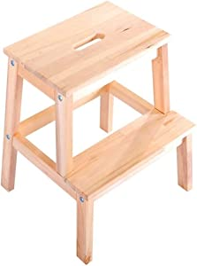 Wtbew-u Stools Step Ladder  Steps Wooden Portable Ladder Chair Stool Multifunction Stairway