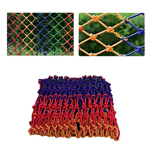 New Xink-fhw Safety Rope Netting Kindergarten Decoration Net Color Rope Mesh Braided Rope Net Child ...