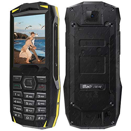 """【2019】Blackview BV1000 Cellulare per Anziani da 3000mAh, 32GB Espandibili, Telefono Cellulare Dual Sim 2.4"""" Triplo Slot 2 Micro SIMs+1 MicroSD, Bluetooth/LED/FM Radio/SOS/Grande Oratore-Nero (EU)"""