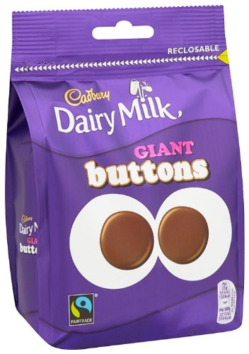 Cadbury Dairy Milk Chocolate Giant Buttons 119 Grams (Pack of 5)