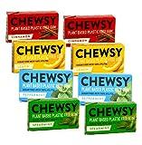 Chewsy Chewingum sin azúcar: 2 x canela, 2 x limón, 2 x menta, 2 x menta verde - (total 8 x 15 gramos)