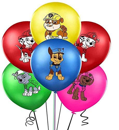 ZSWQ Ballon Luftballon Paw Patrol Hund Kindergeburtstag Deko Paw Patrol Geburtstag Fellfreunde Luftballons Dekoration Set Happy Birthday Deko-Luftballon Balloons, 40pcs