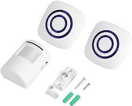 Draadloze detector deurbel infrarood sensor beweging alarm met ontvanger en zender 38 Chime Tunes LED-indicatoren (2+1 EU)