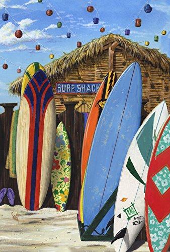Toland Home Garten Surf Shack 28x101,6 cm Deko Sommer Surfen Sport Strand Board Haus Flagge