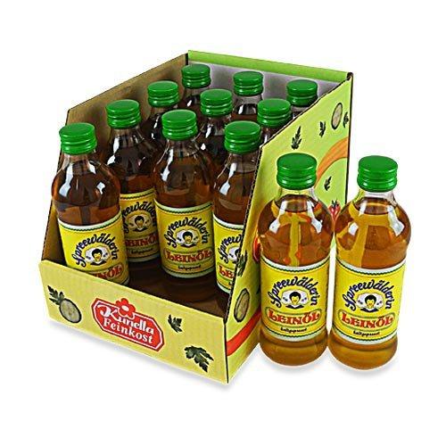 Spreewälderin Leinöl, kaltgepresst 12er Set (12 Flaschen à 250 ml)