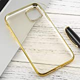 Xyamzhnn For iPhone 11 Transparente TPU Anti-Gota y la Caja Protectora Impermeable del teléfono móvil (Color : Silver)