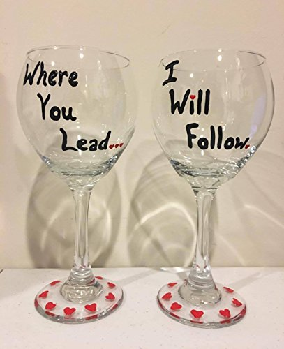 Gilmore Girls Wine Glass Set - Where You Lead I Will Follow