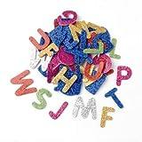 GLOREX - Juego de gomas de musgo con letras brillantes, multicolor, 18 x 11,6 x 1 cm