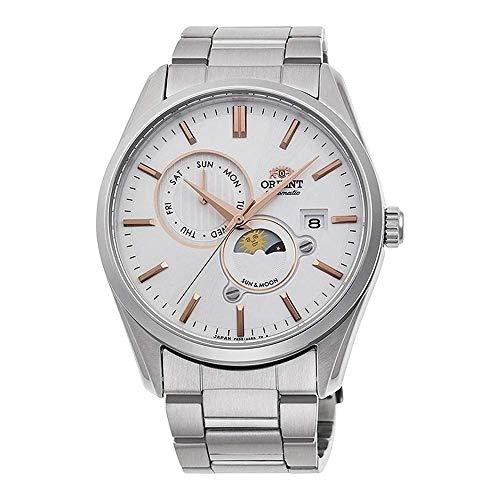 ORIENT 'Sun & Moon' Automatic 2 Tone Rose Gold Sapphire Glass Watch RA-AK0301S