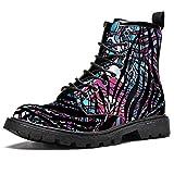 Flor tragaluz imprime invierno cálido botas botas de nieve alta parte superior tobillo cordones...