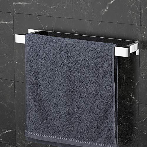 SHYOSUCCE Toallero de Baño Adhesivo de 304 Acero Inoxidable Toallero Barra sin Taladro para Cocina y Baño 43cm