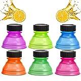 6 Piezas Adaptador Para Lata de Refresco Tapas de Botellas Reutilizables de...