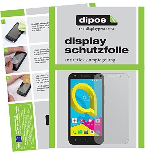 dipos I 2X Schutzfolie matt kompatibel mit Alcatel U5 Folie Bildschirmschutzfolie