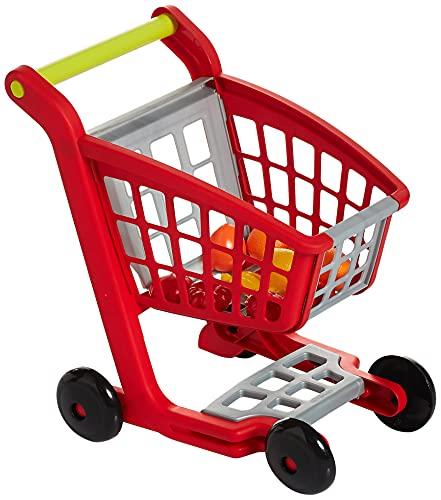 Jouets Ecoiffier – 1225 - Chariot de supermarché pour enfants et ses accessoires 100 % Chef – 12 pièces – Dès 18 mois – Fabriqué en France