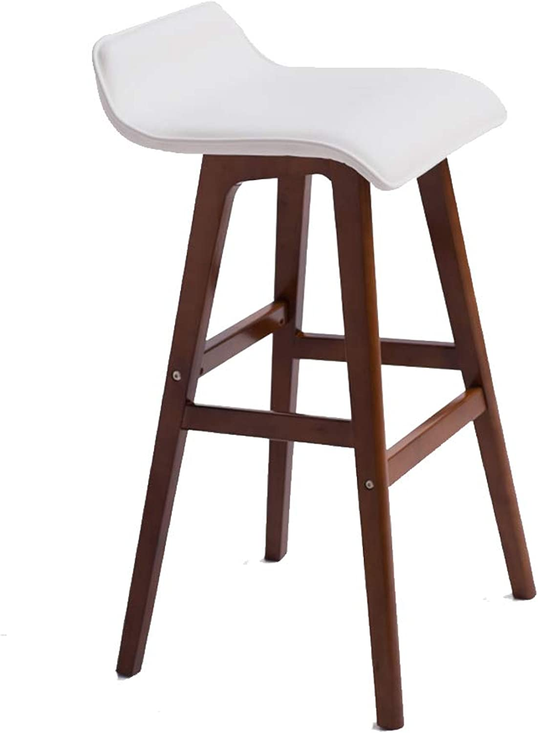 Bar Chair Dining Chair High Stool Kitchen Chair Seat,with Backrest & Footrest PU Leather Wooden, for Counter Cafe Kitchen Breakfast Pub,2 colors