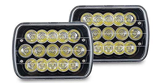 V-spec H6054 Led Headlights, Pair 7x6 Led Headlights 5x7 Led Headlight 6054 Led Headlight 7x6 Headlights H6054 Led Headlight Hi/Low Sealed Beam 7x6 Headlight Lamp for Jeep Xj Yj Cherokee E250