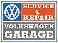 サービス&修理車 金属板ブリキ看板警告サイン注意サイン表示パネル情報サイン金属安全サイン