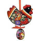 YANMODA Decorazione pasquale a forma di coniglio, decorazione da appendere, in legno, per Pasqua, decorazione della casa, regalo di Pasqua per bambini, amici C~6 One Size