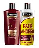 Tresemmé Liso Keratina Pack Champú y Acondicionador - 700 ml + 400...