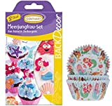 Backdekor Meerjungfrau-Set   Meerjungfrau Muffins   Cupcake   Muffinförmchen   Meer   Strand