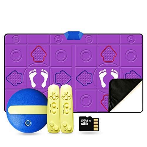WYH Intéressant HD sans Fil 30 MM Double Danse Blanket HDMI Interface TV Dance Machine Accueil somatosensoriel à Double Usage Perte de Poids Exercice Couverture en Cours Sensible (Color : Purple)