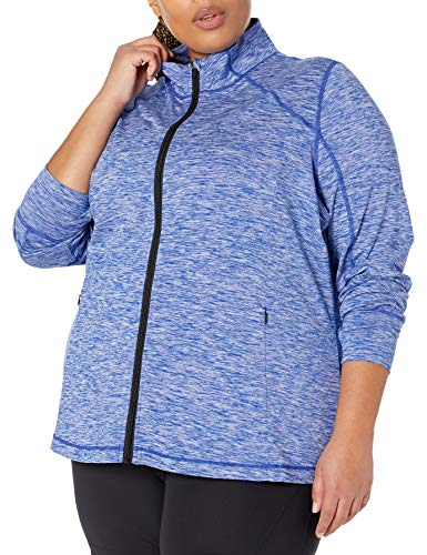 Amazon Essentials Chaqueta con Cremallera Completa, tecnología de Cepillado, Talla Grande Pullover-Sweaters, Azul Spacedye, 6X