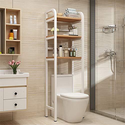 YAzNdom Estanteria sobre Inodoro WC Cuarto de baño del Tubo de Ahorro de Espacio Libre-de pie sobre el Inodoro de Almacenamiento Estante Organizador Espesado Square Apto para Baño