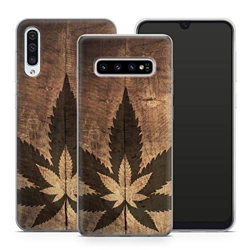 Handyhülle Weed für Samsung Silikon MMM Berlin Hülle Gras Marihuana Cannabis Canabis Hanf Holz Bang, Hüllendesign:Design 3 | Silikon Klar, Kompatibel mit Handy:Samsung Galaxy S10