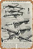 Brandless The New British Machine-Gun Explaned World War II - Placa de aluminio para decoración de hotel, cafetería, escuela, oficina, garaje