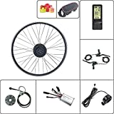 Schuck Kit de modificación de Bicicleta eléctrica Rueda Delantera Motor Rueda 16-29 Pulgadas Rueda 700C 36V48V 250W con Kit de Pantalla ebike KT LCD4 (48V250W LCD4 28inch)