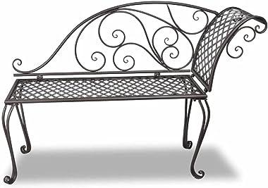 vidaXL Garden Chaise Lounge Outdoor Patio Balcony Terrace Backyard Yard Porch Home Furniture Seat Lounge Seating Metal Antiqu