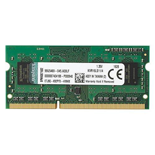 Kingston KVR16LS11/4 - Memoria RAM de 4GB(DDR3L Non-ECC 1600 MHz, FBGA SODIMM 204-pin, 1.35 V CL11)