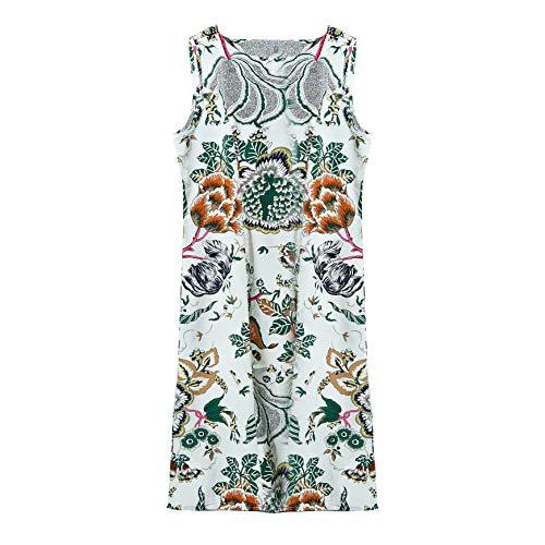 CISULI 100% Seide Damen Kleider Pure Seide Sommerkleid Plusgröße M-3XL (01, L)