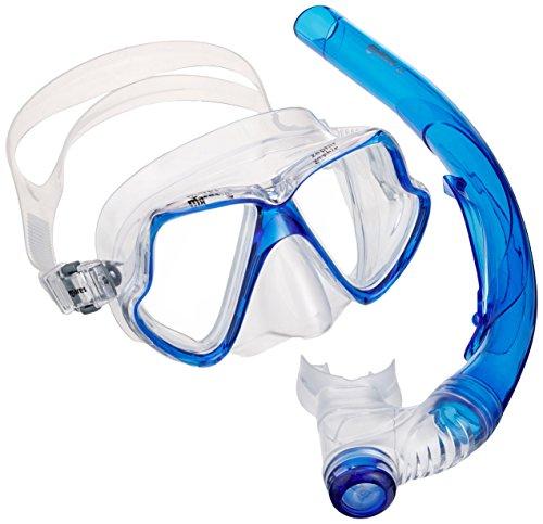 Mares Erwachsene Maske plus Schnorchel Set Zephir, Blue/Clear, One size