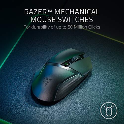 51BZgMR+0AL. SL500  - Razer Basilisk X HyperSpeed Wireless Gaming Mouse: Bluetooth & Wireless Compatible, 16K DPI Optical Sensor, 6 Programmable Buttons, 450 Hr Battery, Classic Black