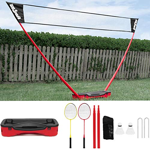 Urban Pop Up Badminton Set [Full Set] • SIZE 3m • Includes: 2 x Rackets, 2 x Shuttlecocks, 1 x Net & Post and Storage case