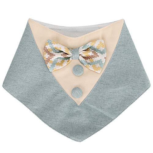 Soapow Pañuelo para mascotas con diseño de gato lindo ajustable y a prueba de sucia para mascotas