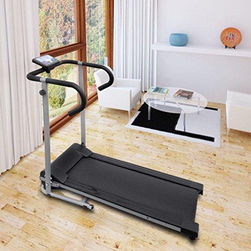 UBaymax Elektrisch Laufband Klappbar mit LCD-Display, Heimtrainer Walken Jogging Speedrunner Laufband, 100 kg belastbar, bis 6 km/h, 500 Watt leiser Elektromotor, Zuhause Sportgerät Trainingsgeräte