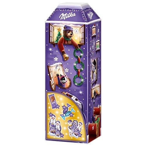 Milka Kalendarz adwentowy 3D 1 x 229 g, kalendarz bożonarodzeniowy z wieloma smakołykami Milka