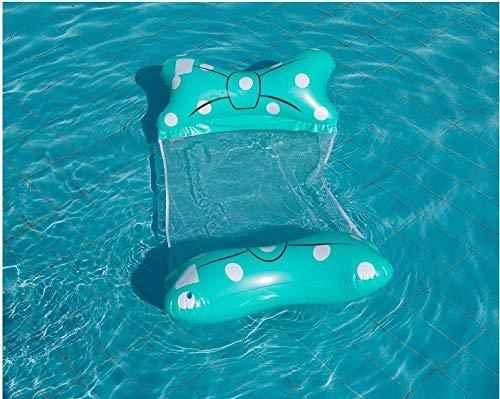 Hamaca Flotante Piscina - Miotlsy Hamaca Agua, Hamaca Flotante, Cama Flotante de Agua Plegado, Piscina Tumbona Hamaca Inflable de Agua Piscina Jardín y Playa para Adultos(Azul Claro)