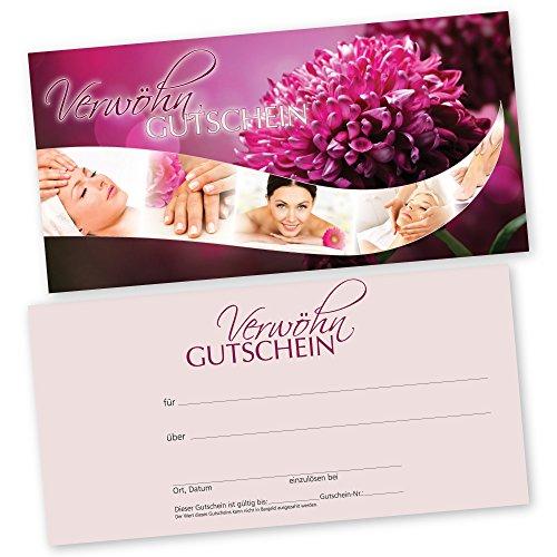 50 Kosmetikstudio – Gutscheinkarten BEAUTY WAVES Gutscheine Geschenkgutscheine