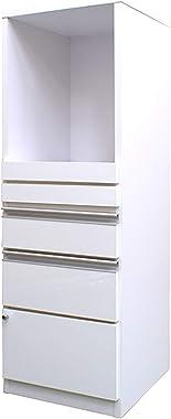 40FB クオーネ 0108 (ホワイト) 日本製 完成品 食器棚 フリーボード 収納家具 キッチン収納 キッチンボード レンジ台 レンジボード キッチンキャビネット キッチンラック 台所収納