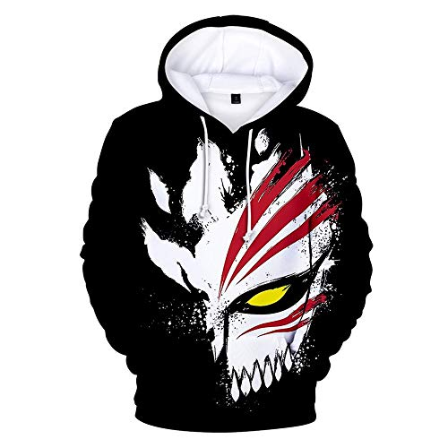 WAWNI Anime Bleach 3D Hoodies Men/Women Fashion Casual Harajuku Sweatshirts (3D2,L)