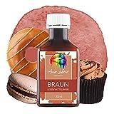 AMOR LABOUR Colorante alimentario 30 ml (marrón).